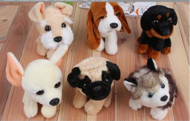 6 Style Foreign Trade Export Mini Soft Plush Stuffed Dog Toy Wholesale(China (Mainland))