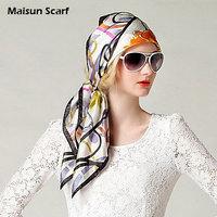 Free shipping  100 silk  85x85cm head scarf hijab