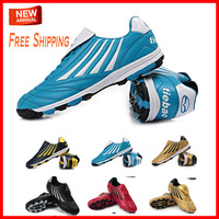 Free Shipping 2013 TIEBAO BRAND Adult Men's Blue Soccer Boots Football Shoes Sneakers Size 38-44