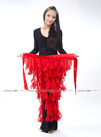 2013 NEW Belly Dancing Chiffon Hip Belt,Belly Dance Long Tassels Hip Scarf ,12Colors Available,Free Size Fit For Most