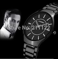 HOT Sale!! SINOBI Brand Black Stainless Steel Strap Watches for Men Fashion Japanese-Quartz Movement Wristwatch Waterproof
