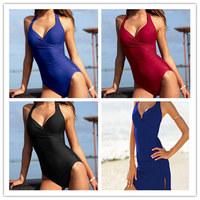 New fashion lady women One piece sexy swimsuit good quality swimwear brands beachwear Hot spring bathing suit short skirt Option