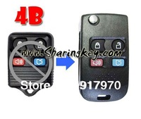 (1 Piece)  Folding flip key Shell For Ford F-150 Ranger Taurus Escape Freestyle Mazda 4 utton