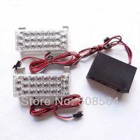 12V 2x22 LED Fire Flashing Blinking Strobe Emergency Car Net Light Flash Burst  51027