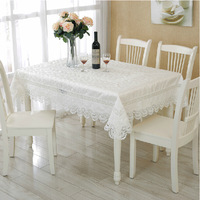 High Quality Free Shipping Hot Sale 135*180cm Elegant 100% Polyester Lace Tablecloth Peacock Wedding Table linen Cloth Covers