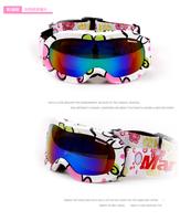Kids Double lens ski goggles anti- fog anti- wind anti- sand riding goggles children ski glasses with Free Shipping