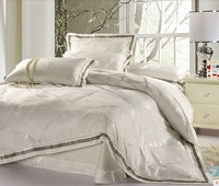 Luxury jacquard bedding sets king queen size 4pc include 1pc*duvet cover+1pc*bed sheet+2pcs*pillowcases