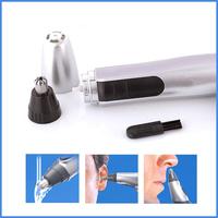 Protable 2pcs/lot Electric Nose Ear Hair Trimmer Shaver for Men Face Cleaner