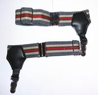 New 2PCS 1 Pair Sexy Grey Red Stripes Unisex Sock Garter Women Men Sock Suspender Fashion Costume Cosplay DIY Tool