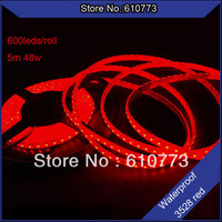 5m/lot free shipping dc12v input led strip non-waterproof 3528 600leds 48w home decoration