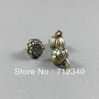 Wholesale 100Pcs/Lot Vintage Antiqued Bronze Alloy Lotus Flower Pendant Charms 8*9MM 2167