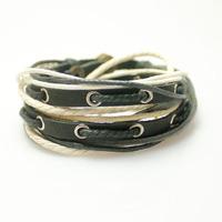 [Free Shipping] Fashion cowhide bracelet multi-layer wrap bracelet men's women's couple bracelet