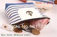 Mini Order $8(mixed) Hot selling fashionable print canvas coin purses/change purse/coin holder /cosmetic bag