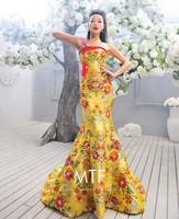 Free Shipping Q1385 Fashion 2013 New Wedding Dress Toast Clothing Long Paragraph Bra Trailing Wedding Dress