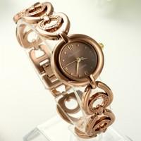 Exquisite fashion women's watch peach steel strip patchwork bracelet watch rose gold disc watch quartz watch