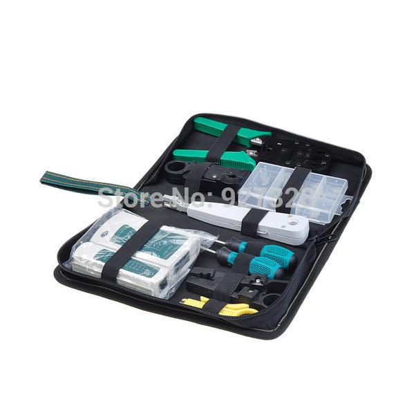 Internet Network Cable Tester Wire Crimp LAN RJ45 RJ11 CAT5 Analyzer Tool Kit(China (Mainland))