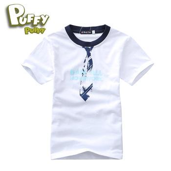 2013 summer white Children Boy Kids Baby ajiduo brand short sleeve tee t-shirt cotton shirt PFXZ01P87