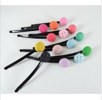 HP06 Factory outlets new Korean dot clasp word folder hairpin wholesale  KID HAIRCLIP