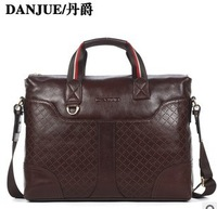 2013 New designer First layer of cowhide men handbag laptop men bag computer bag business handbag shoulder bag Free shipping