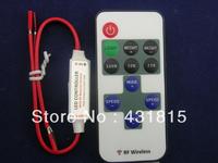 LED mini Controller,R106 RF Wireless Single Color LED controller,DC5~24V input,12A,RF wireless card type remote controller
