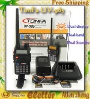 Original TONFA UV-985 dual band dual display dual standby walkie talkie UV985 two way radio free shipping