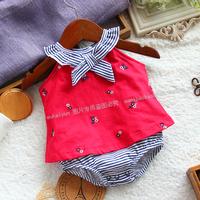 Shopping festival new  Baby summer clothing children's bodysuit sleeveless romper female child triangle newborn brand baby girl