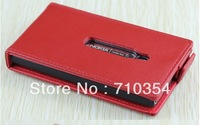Free shipping high quality crocodile & plain pattern leather case protective shell flip cover pouch for Nokia Lumia 800