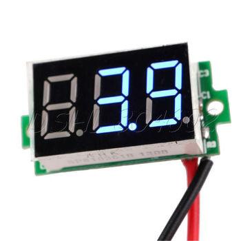 Mini Blue Color LED Digital Voltmeter DC 3.2V-30V Panel Meter 2 wires
