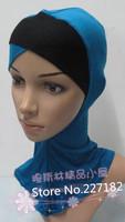 free shiping muslim bandanas basic cotton cap basic small wigs hijab multicolor scarves headscarf for islamic women A1403