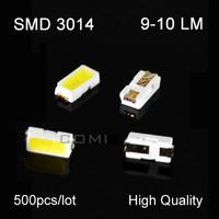 free shipping high quality smd 3014 leds 9-10lm for led light string par light 500pics/lot hot sale SMD3014 for corn light