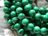 Free shipping natural stone beads  6mm malachite round loose beads european bead bracelet
