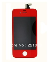 DHL Freeshipping  Complete Front Red Screen Assembly (Digitizer+LCD)  for iPhone 4  50pcs/lot