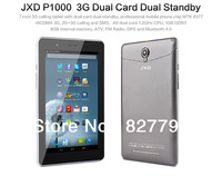Original JXD P1000 MTK8377 Tablet PC 7 Inch Android 4.1 3G GPS Bluetooth Dual SIM Card Dual Camera Mobile Phone