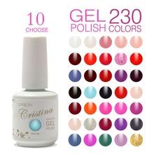 Choose 10 Colors Cristina Soak Off UV Gel Nail Polish ,Temperature Gel,Luminous Acrylic Nail Kit Color Club Gel Paint Wholesale(China (Mainland))