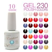 Choose 10 Colors In 295 Cristina Soak Off UV Gel Nail Polish ,Temperature Gel,Luminous Acrylic Nail Kit Color Wholesale