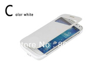 3800mAh External Backup Battery Leather Case Power bank for Samsung Galaxy S4 i9500 Free Shipping with retail packing