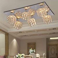 free shipping Minimalist modern K9 crystal chandelier pendant artistic lighting lamps living room bedroom dining room FRHC/56