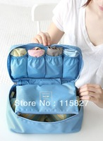 Free shipping!2pcs/lot Nylon Travel Bag Waterproof hand carry  bag underwear pouch outdoor Organizer toiletry bag