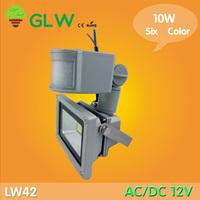 Big discount !12V 10W PIR LED Flood light White Warm Floodlight Motion Sensor AC/DC 12V LW42