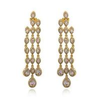 New design Ladies Luxury AAA+ Cubic Zirconia Micro Pave Setting Pearl Earrings Lead Free Nickel Free Platinum Plating