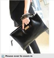 2014 new European and American big female leather shoulder bag high-grade leather handbag women clutch