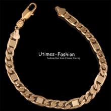 18k Gold Plated New Design Bracelet Men 2013 with Environmental copper