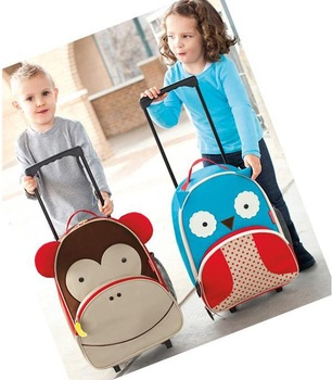 fashion cartoon animal trolley bag cartoon primary school studentsbackpack  trolley luggage bag BB024