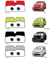 Hot Sale New Big Eyes Pixar Cars Lightning Front Car Windshield Sun Shade 5colors