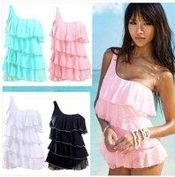 Free Shipping Ladies Sexy Fanshion Monokini Swimwear Swimsuit Push up bikini Padded 1pcs Bathing Suit 4colors M/L/XL/XXL