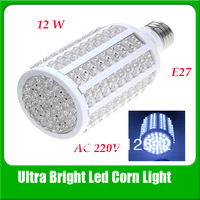Wholesale E27 12w 216 leds Warm White/ White Led Corn Bulb Light Lamp AC220v Free Shipping