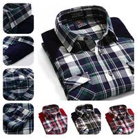 On Sale Broadcloth Plaid Shirt Men/2014 Promotion+Free Shipping Fashion Contrast Shirt/High Quality Men Long Sleeve Casual Shirt