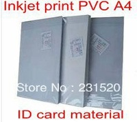 Card Printing supplies material Blank Inkjet print PVC sheets A4 50sets white color 0.58mm thick: 0.15mm+0.28mm+0.15mm
