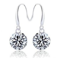 Y-037 925 silver stud earrings earrings simple Zircon jewelry women