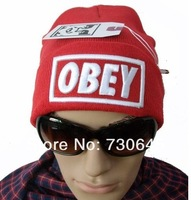OBEY the letter knitted cap wool hat cap fation hat